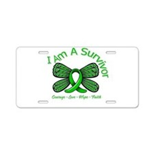 TBI I'm A Survivor Aluminum License Plate