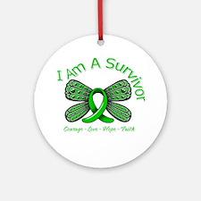 TBI I'm A Survivor Ornament (Round)