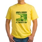 Green Beer Yellow T-Shirt
