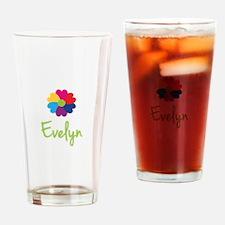 Evelyn Valentine Flower Drinking Glass