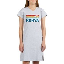 Retro Palm Tree Kenya Women's Nightshirt