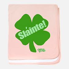 Slainte St. Patrick's Day baby blanket
