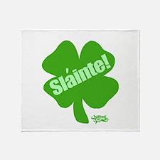 Slainte St. Patrick's Day Throw Blanket