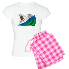 Wavy Lesotho Flag Pajamas
