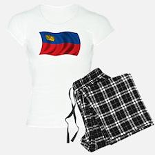 Wavy Liechtenstein Flag Pajamas