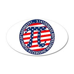 American Pi, Pie 22x14 Oval Wall Peel