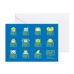RIF Greeting Cards (Pk of 10) - Book Characters