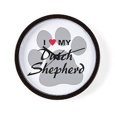 Love My Dutch Shepherd Wall Clock