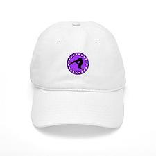 Gymnast in Purple Baseball Baseball Cap