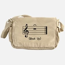 Shut Up (in musical notation) Messenger Bag