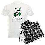 Nigeria Peace Men's Light Pajamas