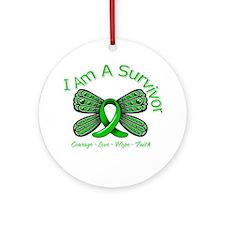 Spinal Cord Injury I'm A Survivor Ornament (Round)