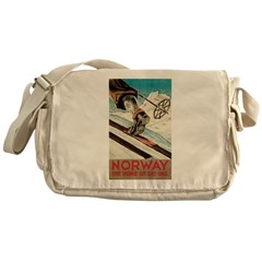 Norway The Home Of Skiing Messenger Bag