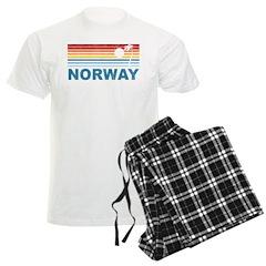 Retro Palm Tree Norway Pajamas