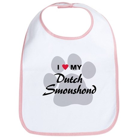 Love My Dutch Smoushond Bib