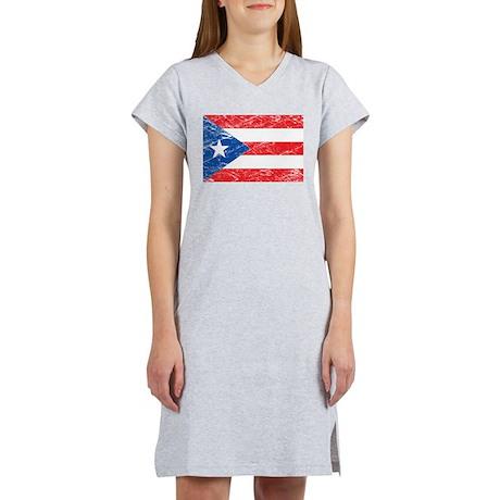 Vintage Puerto Rico Flag Women's Nightshirt