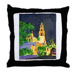 Night In Balboa Park Throw Pillow