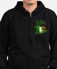 Irish Princess St. Patty's Day Zip Hoodie (dark)