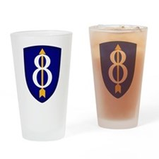 8th Infantry Drinking Glass