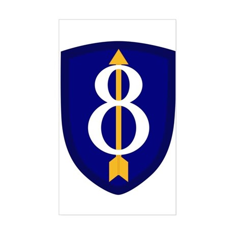8th Infantry Sticker (Rectangle)