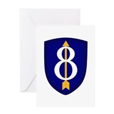 8th Infantry Greeting Card