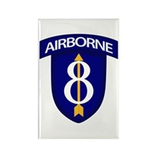 8th Infantry Airborne Rectangle Magnet
