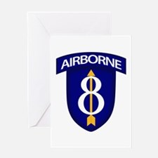 8th Infantry Airborne Greeting Card