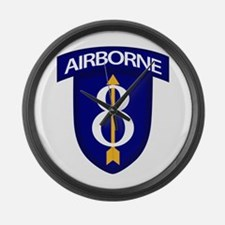 8th Infantry Airborne Large Wall Clock