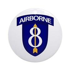 8th Infantry Airborne Ornament (Round)