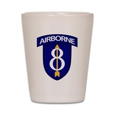 8th Infantry Airborne Shot Glass