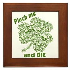 Pinch Me and Die Funny Irish Framed Tile