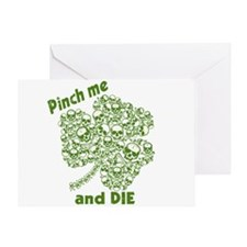 Pinch Me and Die Funny Irish Greeting Card