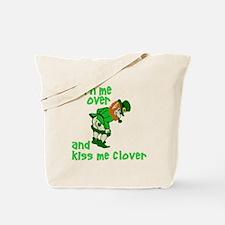 Kiss Me Clover Funny Irish Tote Bag