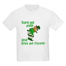 Kiss Me Clover Funny Irish T-Shirt