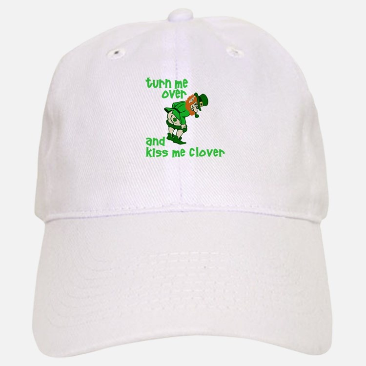 Kiss Me Clover Funny Irish Baseball Baseball Cap