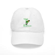 Kiss Me Clover Funny Irish Baseball Cap