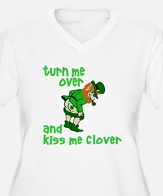 Kiss Me Clover Funny Irish T-Shirt