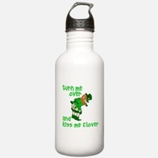 Kiss Me Clover Funny Irish Water Bottle