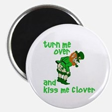 "Kiss Me Clover Funny Irish 2.25"" Magnet (10 pack)"