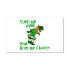 Kiss Me Clover Funny Irish Car Magnet 20 x 12