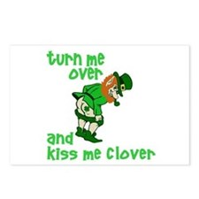 Kiss Me Clover Funny Irish Postcards (Package of 8