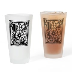 Letter L Drinking Glass