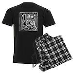 Letter L Men's Dark Pajamas