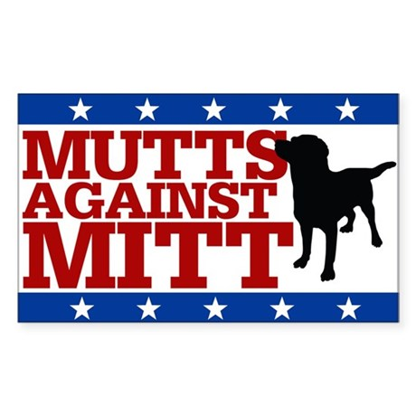 Mutts Against Mitt Sticker (Rectangle)