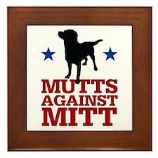 Mutts Against Mitt Framed Tile