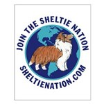 Sheltie Nation Small Poster