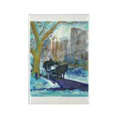 A Winters Day Rectangle Magnet (10 pack)