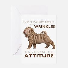 Shar Pei Attitude Greeting Card
