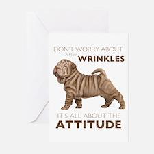 Shar Pei Attitude Greeting Cards (Pk of 10)