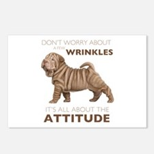 Shar Pei Attitude Postcards (Package of 8)